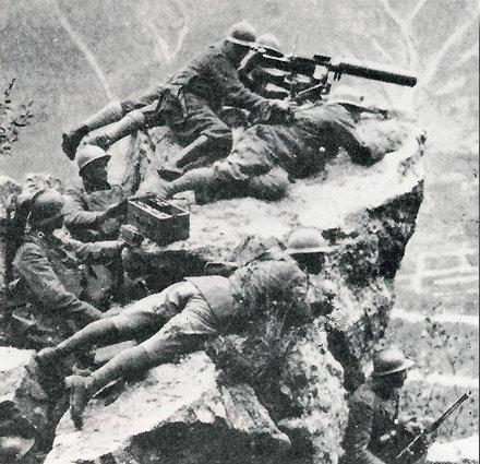 Poste de mitrailleuse sur le Monte Grappa
