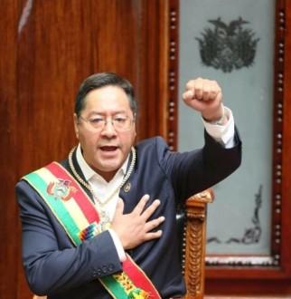 DISCURSO DEL PRESIDENTE DEL ESTADO PLURINACIONAL DE BOLIVIA, LUIS ALBERTO ARCE CATACORA, EN EL ACTO DE TRANSMISIÓN DE MANDO EN LA ASAMBLEA LEGISLATIVA PLURINACIONAL