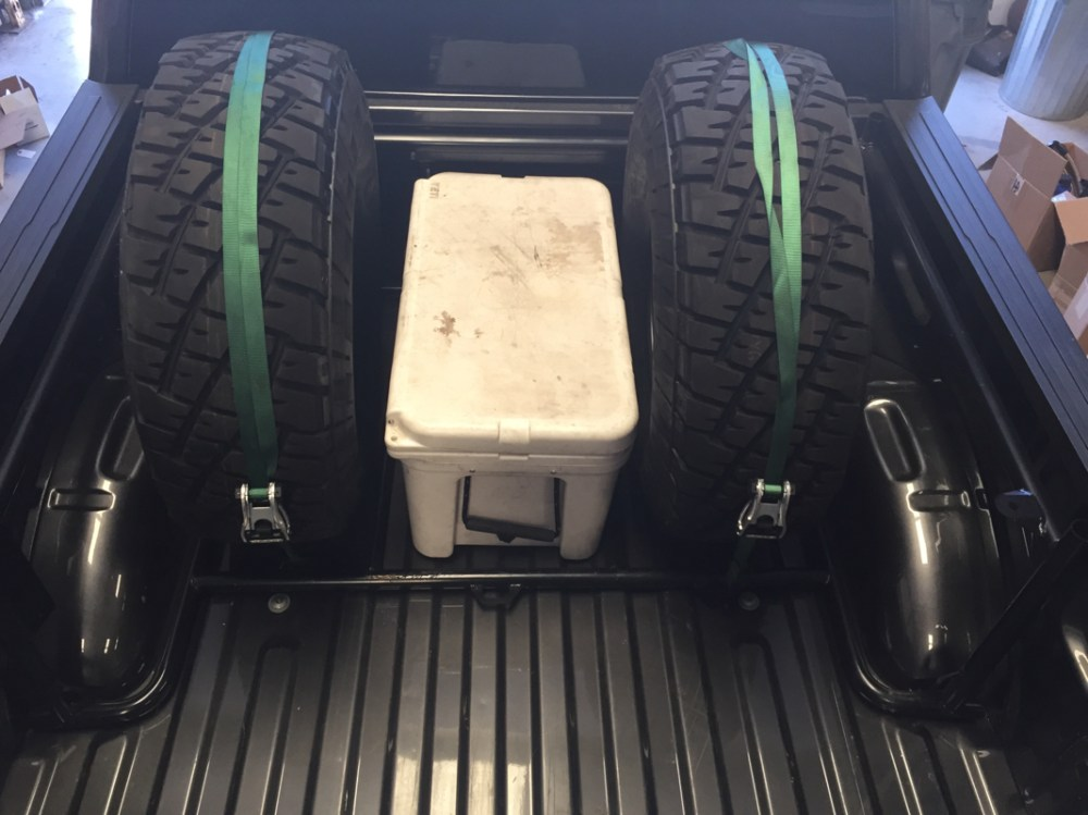 medium resolution of this is our bed rack for the 2015 ford f150 it can be configured many different ways to hold tires ice chests storage boxes jack