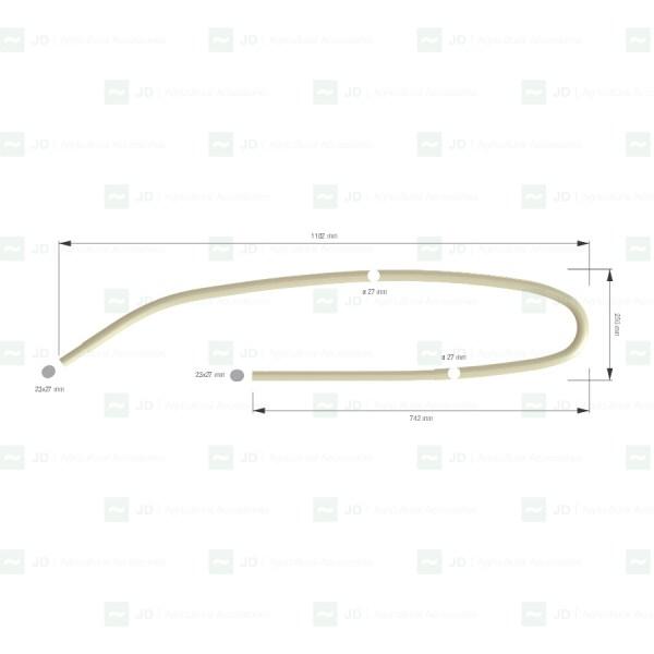 PELL-845. Bastón / Sacudidor adaptable a vendimiadoras Pellenc Serie 8000, 890, 7050 (8927800 / 5646845)