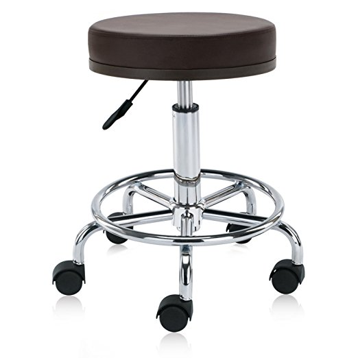 rolling stool chair wingback office hydraulic swivel clinic spa massage with foot rest 504