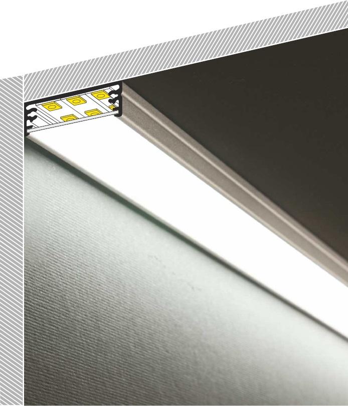 Profilo led da sottopensile in alluminio  Vendita Illuminazione