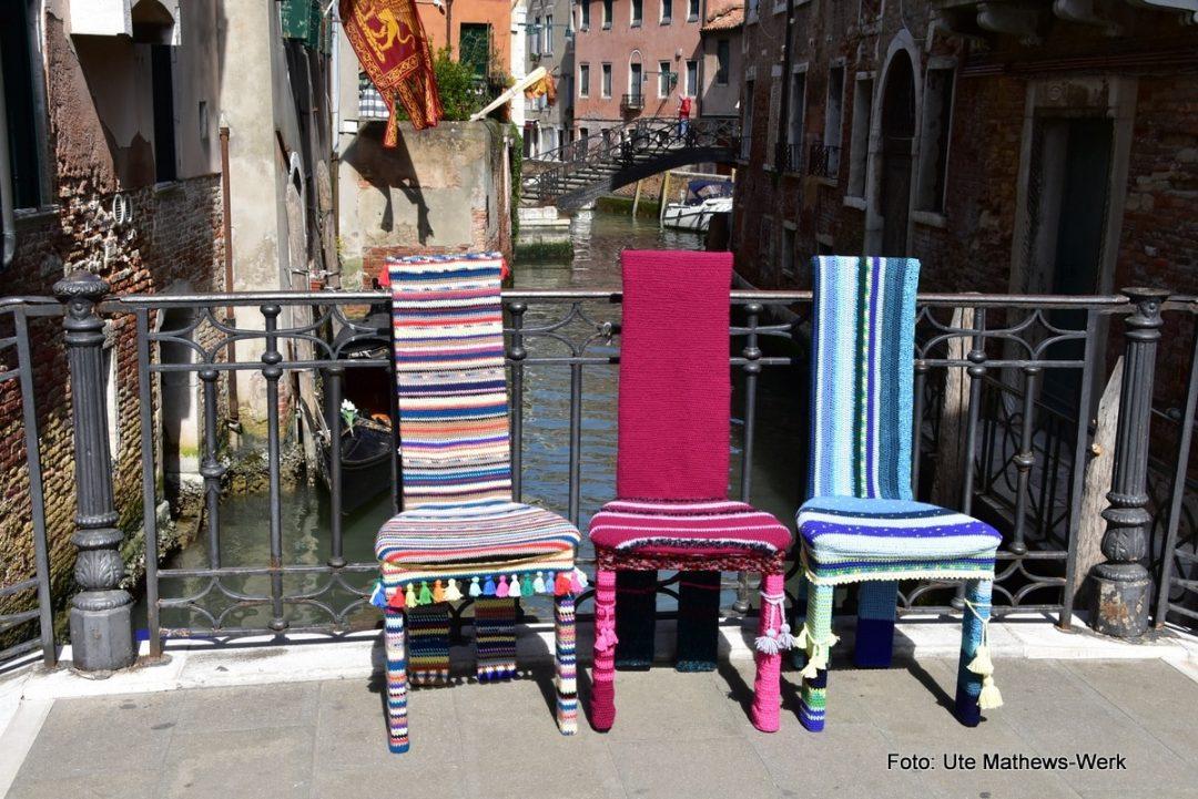 Venedig, 30.04.2020, drei Stühle sind fertig