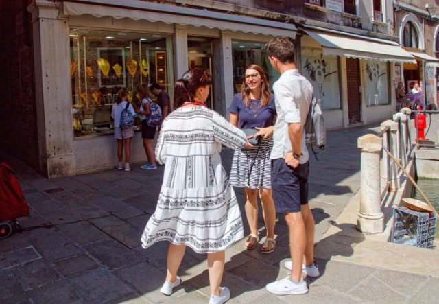 Heiratsantrag in Venedig in der Gondel