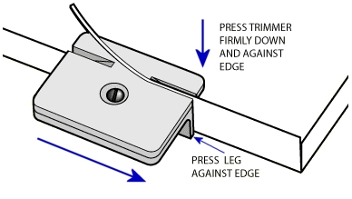 Edgebanding Trimmer Gives Perfect Flush Cuts Everytime: $9.95