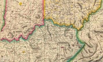 Bluegrass Map 1827, Phillippe Vandermaelen