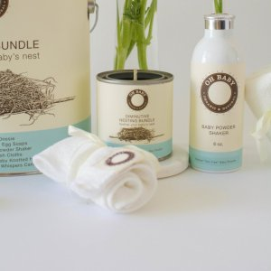 Petite Nesting Bundle #3 Six French Terry Wash Cloths and a Robins egg soap