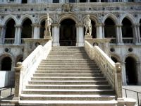 The Giants Staircase of the Doges Palace in Venice