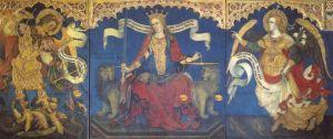 La Giustizia tra i santi Michele e Gabriele, 1421. Trittico Tempera su tavola con Venezia ...