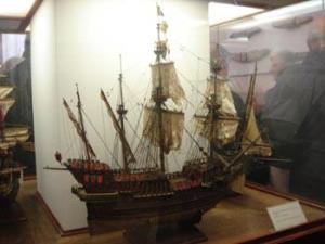 veliero veneto, modello esposto al Museo dell'arsenal a Venezia.