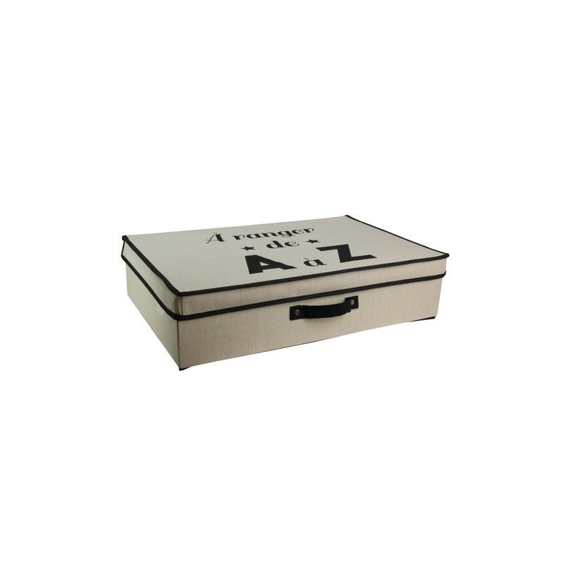 boite de rangement sous lit 25l en famille m8