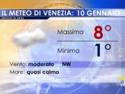 Meteo Venezia: previsioni giovedì 10 gennaio 2019