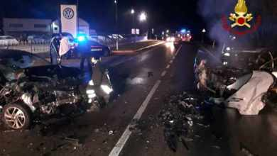 Photo of Portogruaro, scontro frontale tra due auto a Capodanno: tre feriti