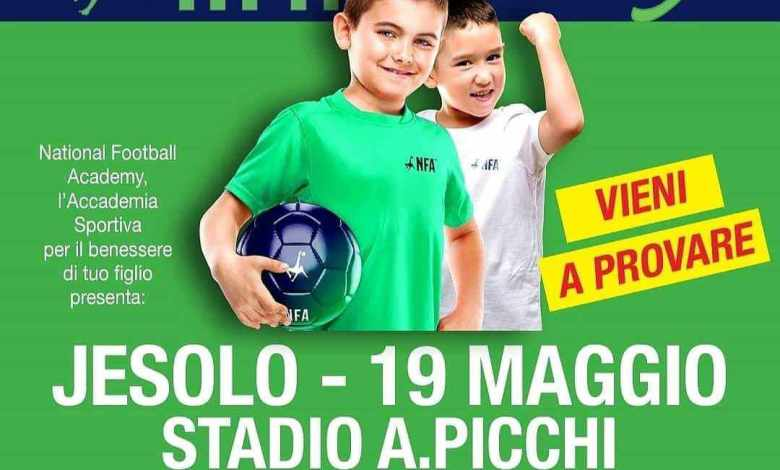 Ritorna a Jesolo la National Football Academy