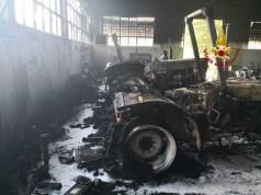 Incendio in un officina a Cona