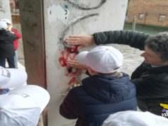 Zambelli rimossi i graffiti nel progetto con Garanzia Civica