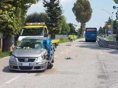 Musile di Piave, incidente tra due auto e autobus: tre feriti