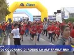 Alì Family Run di Dolo: in 5500 colorano di rosso la corsa