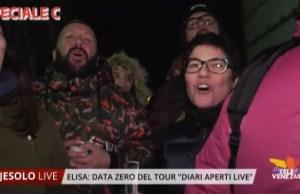 "Elisa: data zero del tour ""Diari aperti live"". Interviste ai fans"