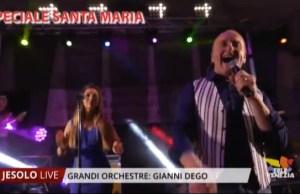 Gianni Dego e la sua orchestra alla Sagra di Santa Maria