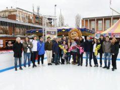 Inaugurata la pista sul ghiaccio in piazza Mercato a Marghera