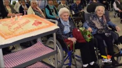 Monastier: spente 203 candeline. Il compleanno di Cesira e Angela