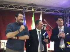 Matteo Salvini torna da Maccari