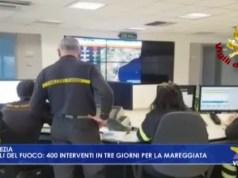 Vigili del fuoco: 400 interventi in 3 giorni per la mareggiata