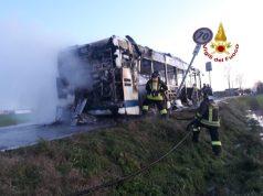 incendio autobus actv marcon