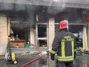 Violento incendio in un negozio di computer a Carpenedo - Televenezia