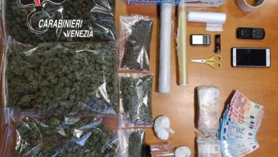 Photo of Cocaina e marijuana in casa: arrestato pusher 26enne