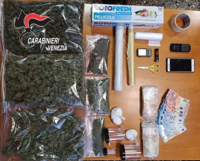 Cocaina e marijuana in casa: arrestato pusher 26enne a Marghera - Televenezia
