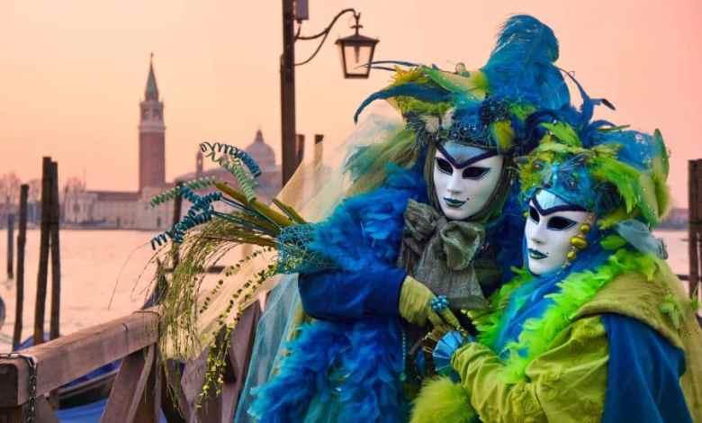 foto del carnevale di venezia 2020