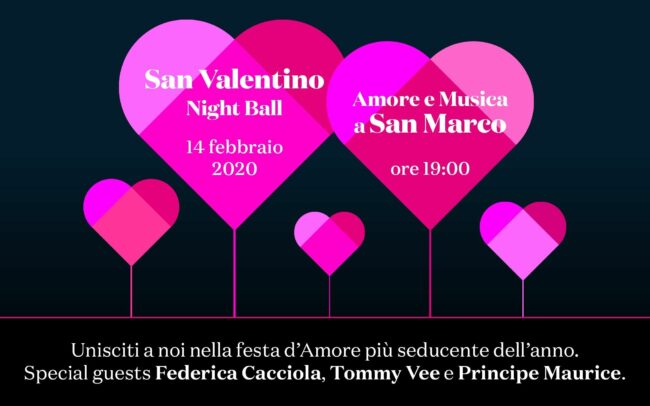 San Valentino Night Ball in Piazza San Marco: programma