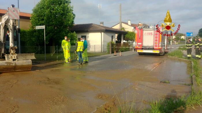 Borbiago, si rombe tubatura dell'acqua: paese a secco
