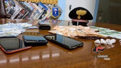 Cocaina e 5mila euro in camera d'albergo a Mirano