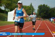 Sara Valdo e il nordic walking