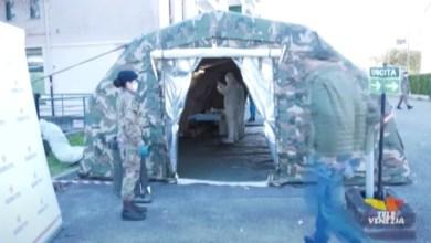 Tamponi: l'esercito aiuta il personale sanitario