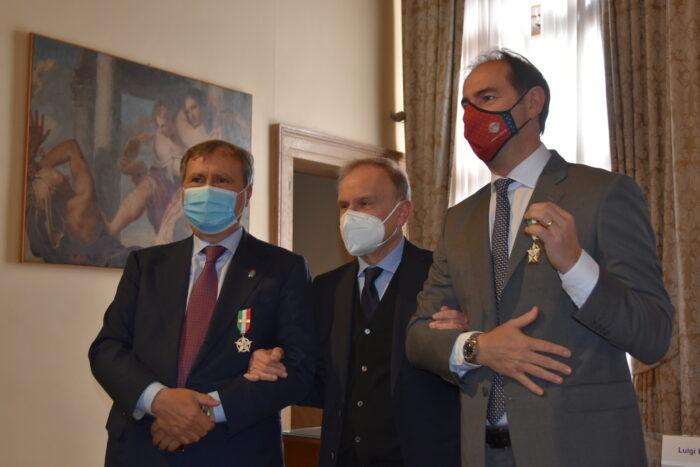 Sindaco Luigi Brugnaro riceve la Stella d'oro al merito sportivo