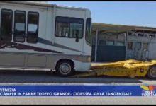 VIDEO: Camper in panne troppo grande: odissea sulla tangenziale - Televenezia