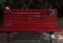 Panchina rossa per non dimenticare le violenze di genere
