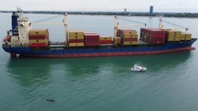 portacontainer incagliata a Cortellazzo: fermo amministrativo
