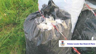 San Donà: abbandona sei sacchi di rifiuti edili lungo il Canale Navigabile