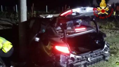 Noventa di Piave: auto esce di strada, due feriti gravi