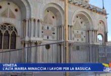 Basilica di San Marco: l'alta marea minaccia i lavori