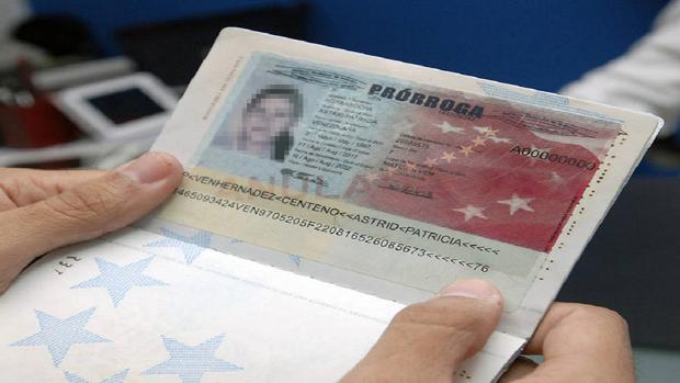 Pasaporte venezolano prórroga
