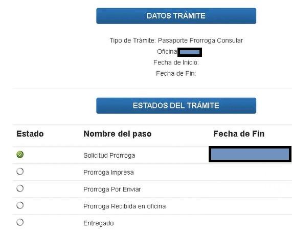 estatus de la cita de la prórroga del pasaporte venezolano