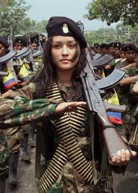 FARCの女性兵士