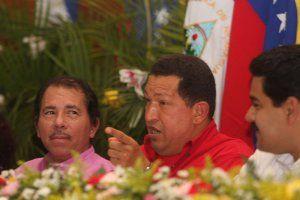 ホンジュラスのオルテガ大統領とベネズエラのチャベス大統領