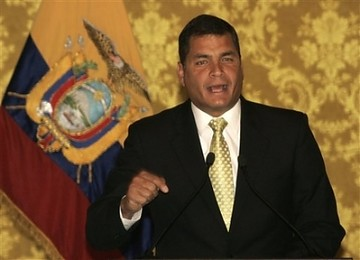 エクアドルのコレア大統領